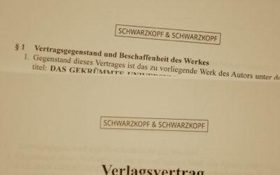 Endlich – der Vertrag für meinen ersten Roman!
