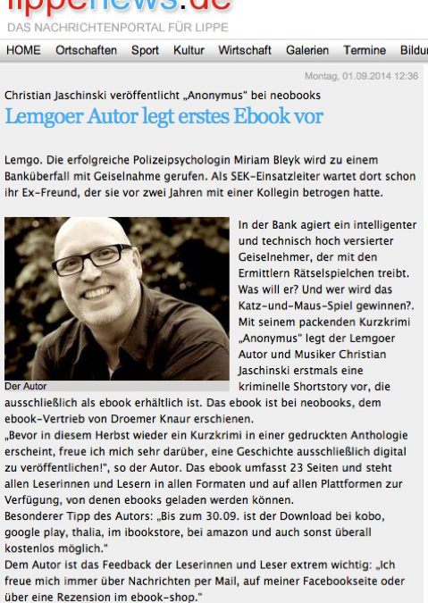 Christian Jaschinski | Aktuelles - Anonymus
